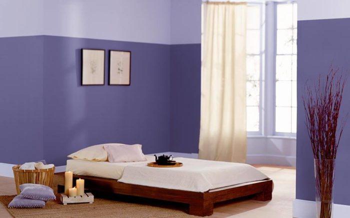 غرفة نوم سيمبل وشيك باللون الموف