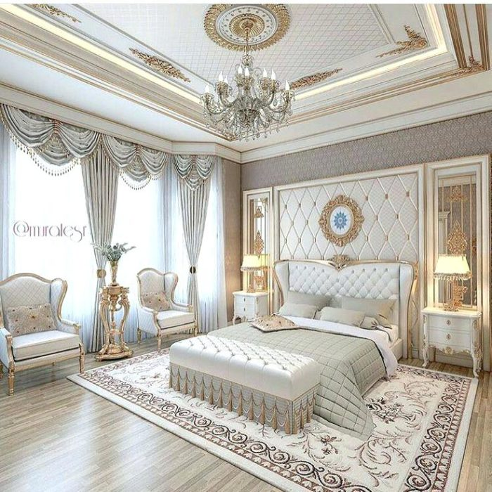غرفة نوم فخمة جداً تناسب الذوق الراقي