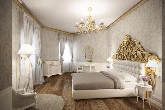 غرفة نوم فى منتهى الجمال والروعة والشياكة تناسب الذوق العالي
