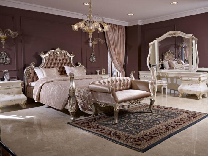 غرفة نوم قمة فى الجمال مكونة من أثاث مصمم بطريقة فنية مبتكرة وعصرية