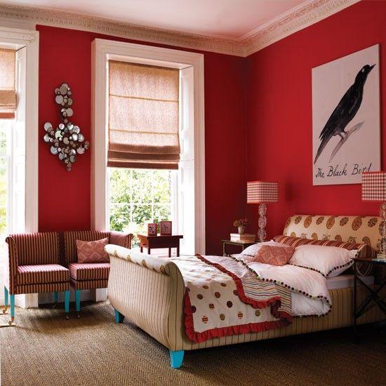 غرف نوم باللون الاحمر ارئعة وجميلة جداً