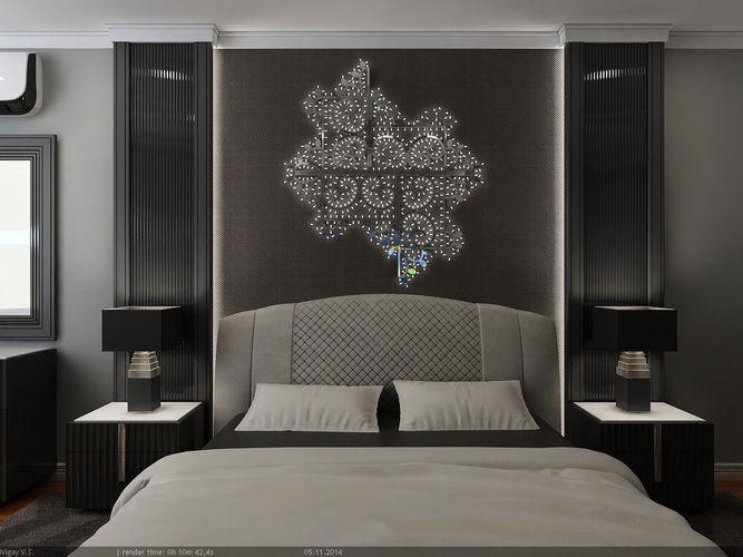 فخامة اللون الاسود تظهر فى هذه الغرفة بتصميمها الرائع