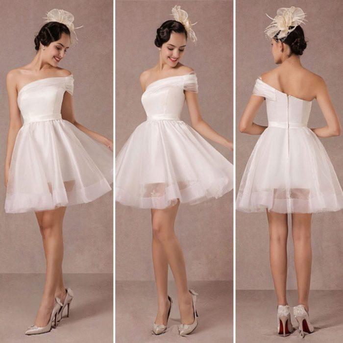 فستان من خامةالاورجانزا اللامعة قصير جميل جداً وشيك