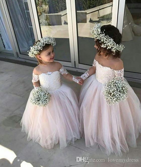 من أجمل موديلات فساتين الافراح للاطفال 2018