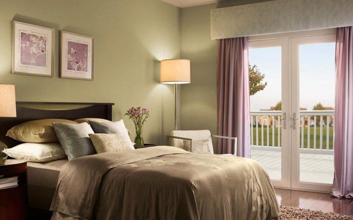 من أجمل واحلى ديكورات غرف النوم باللون الكموني