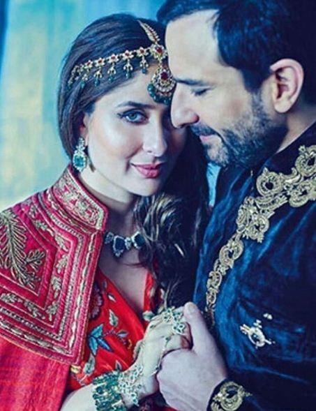 صورة رومانسية تجمع بين الزوجين سيف علي خان وكارينا كابور