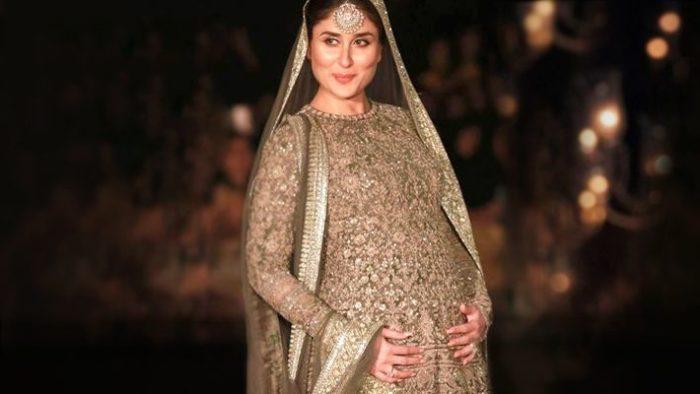 صورة للنجمة لكارينا كابور في اواخر شهور الحمل