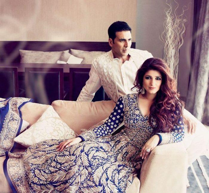 صورة للنجم أكشااي كومار مع زوجته توينكل خانا