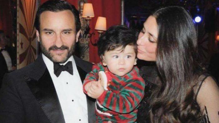 صور تجمع بين النجم سيف علي خان وزوجته كارينا كابور وابنهم