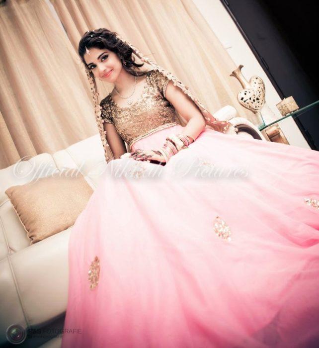صورة حلوة جداً من حفل زفافها