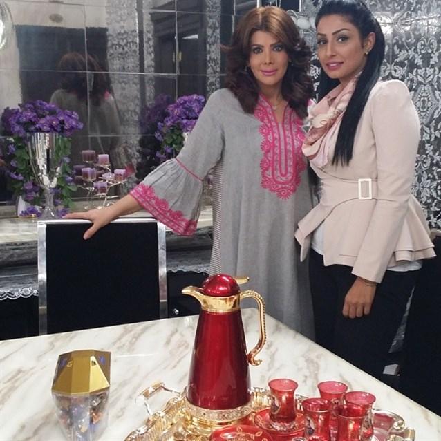 صورة للممثلة الكويتية الهام الفضالة من منزلها