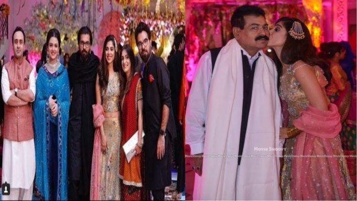 صورة من حفل زفاف أختها سناء حسين