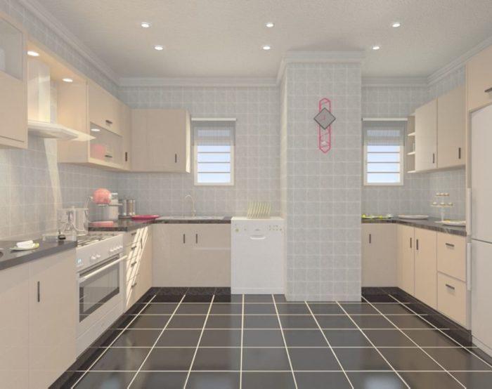 مطبخ مودرن بتصميم في منتهى الجمال والروعة