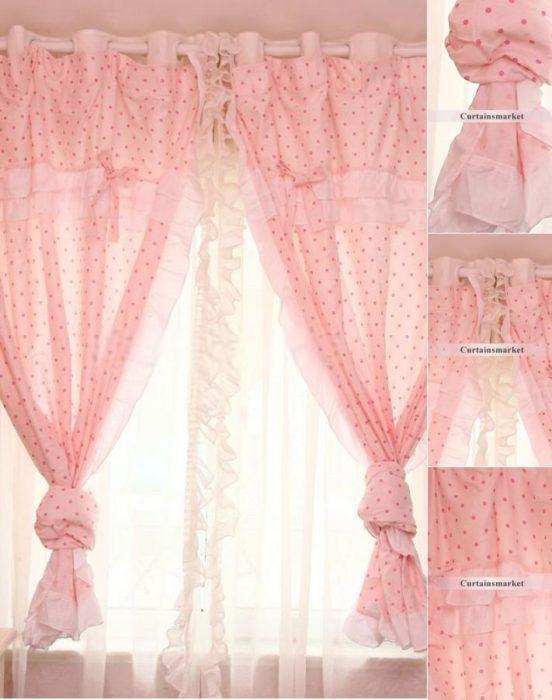 ستارة باللون الوردي مناسبة لغرف الاطفال