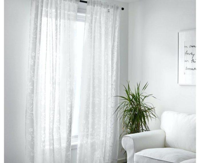ستارة دانتيل بيضاء من ايكيا جميلة جداً