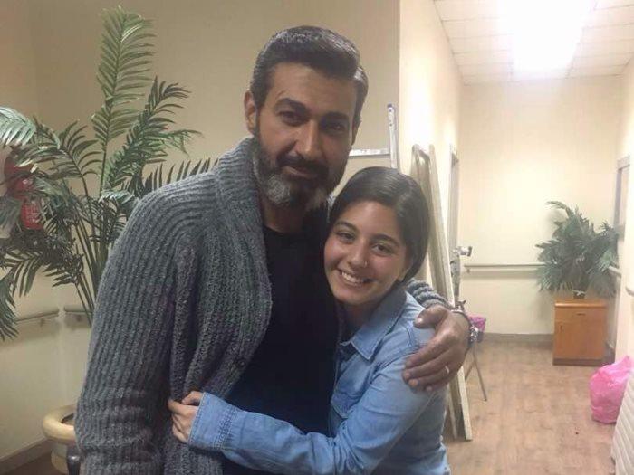 صورة للنجمة الجميلة مايان السيد مع النجم المشهور ياسر جلال