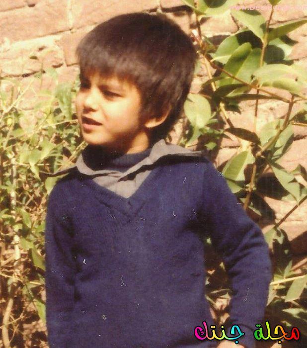 عمران عباس وهو صغير