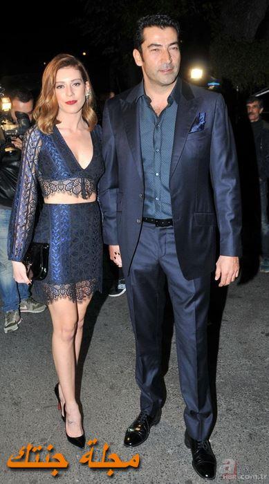 كنان إميرزالي أوغلو وزوجته سينيم كوبال