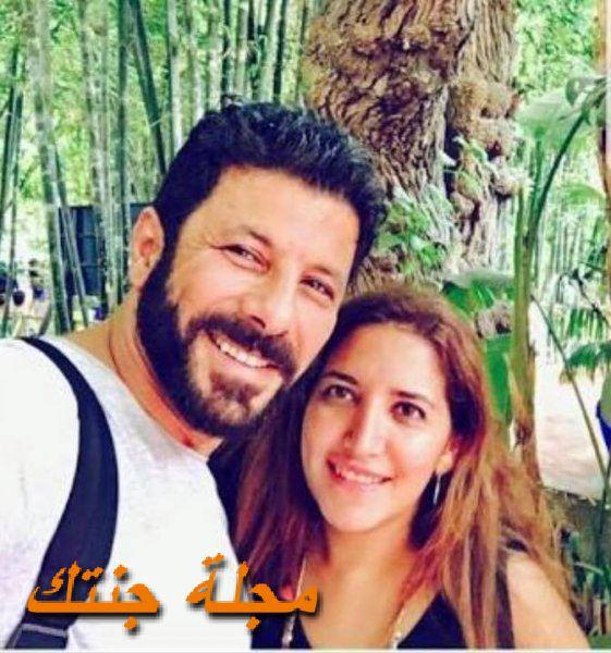 اياد نصار مع زوجته الثانية