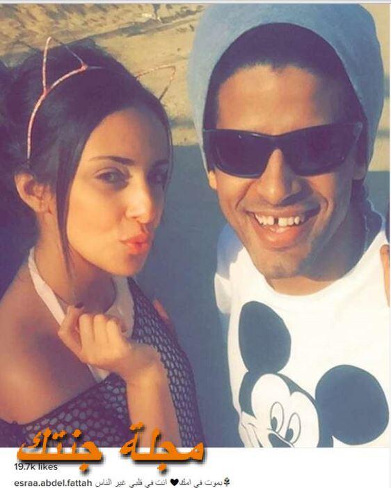 حمدي الميرغني مع زوجته في شهر العسل