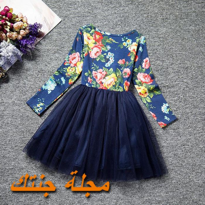 فستان أطفال تركي مناسب للشتاء