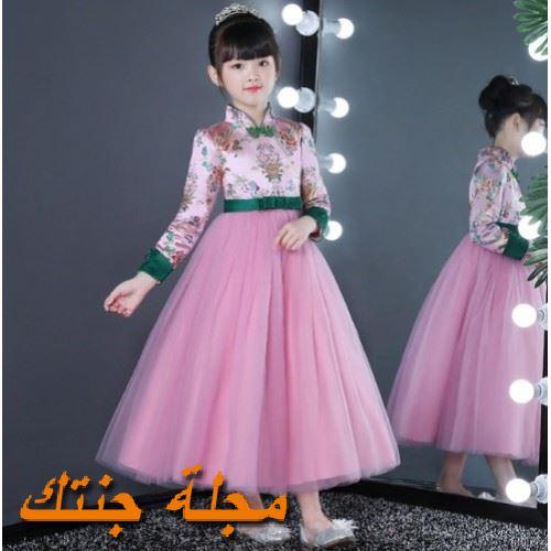 فستان أطفال شتوي للافراح جميل وجديد