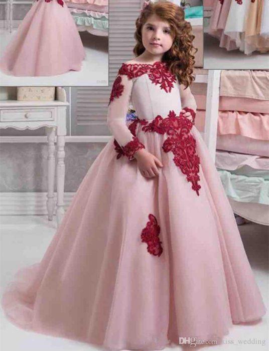 فستان أطفال شتوي للزفاف جميل وروعة