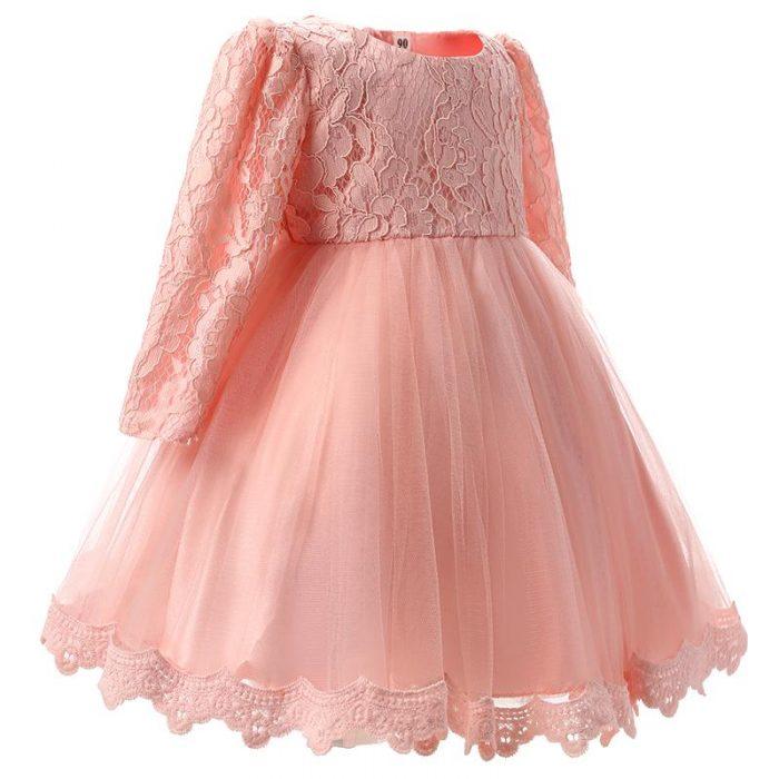 فستان أطفال شتوي للزفاف من التل