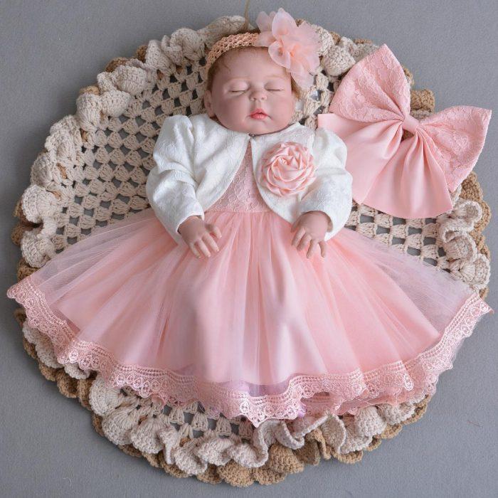 فستان زفاف لحديثي الولادة شتوي