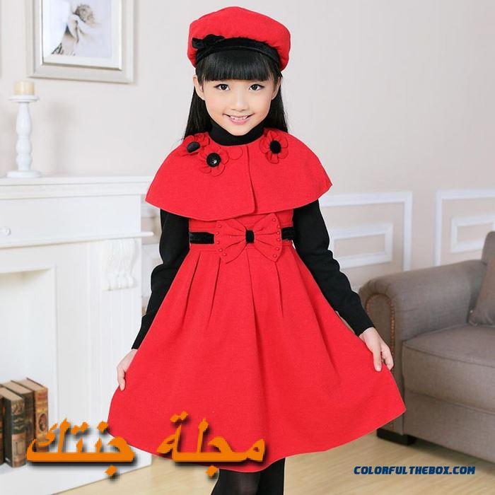 فستان شتوي باللون الاحمر حلو جداً
