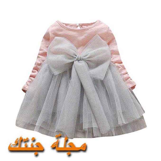 فستان شتوي لحديثي الولادة للمناسبات