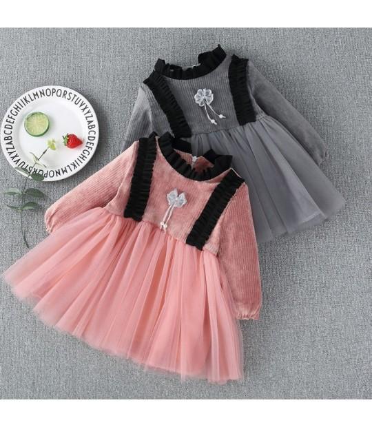 فستان شتوي للاطفال جميل ورائع