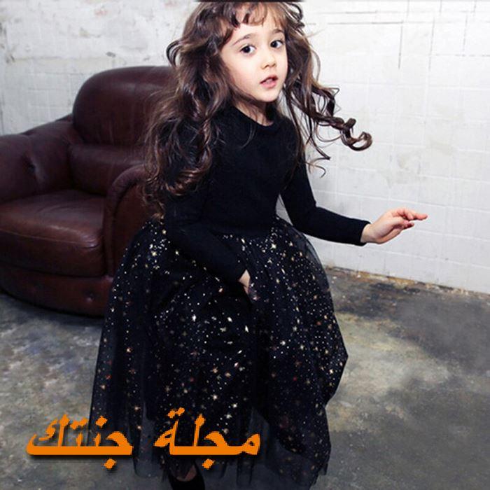 فستان شتوي للافراح باللون الاسود