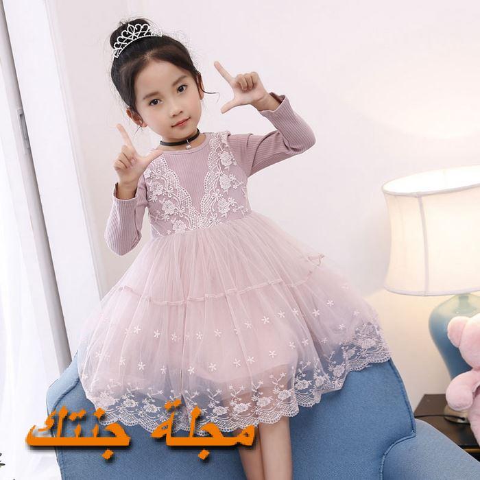 فستان شتوي للافراح باللون الموف