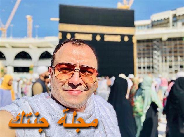 حسام داغر اثناء اداء مناسك العمرة