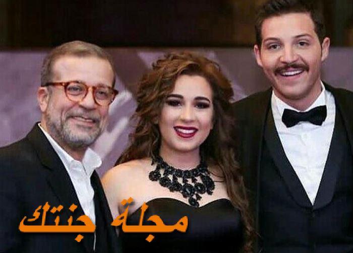محمود حجازي مع زوجته وحماه