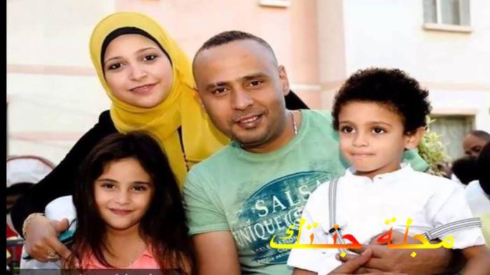 محمود عبد المغني وزوجته واولاده