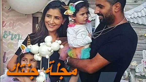 مي عمر وزوجها محمد سامي وبنتها
