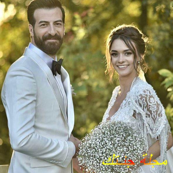 إسماعيل ديميرجي وزوجته من حفلة زفافه