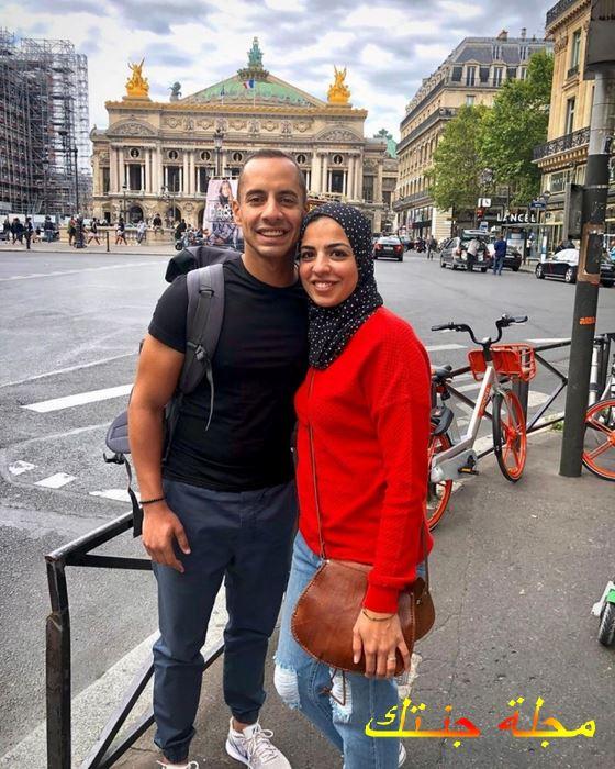 عمرو وهبة وزوجته