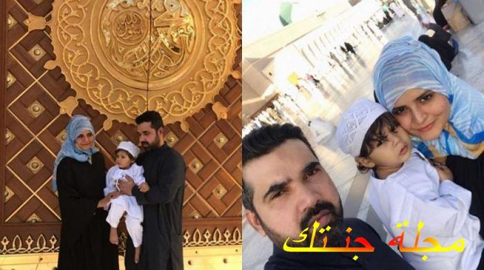 بينش شوهان مع عائلته في العمر
