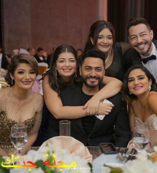 احمد زاهر وتامر حسني من حفل زفاف احد اقاربه
