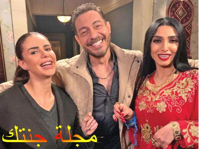 احمد زاهر وروجينا ودنيا من كواليس البرنس
