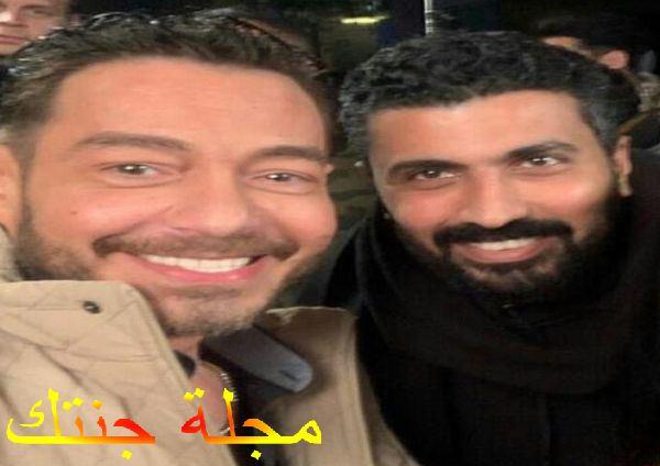 الفنان احمد زاهر وصديقه المخرج محمد سامي