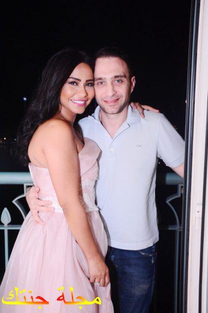 شيرين مع زوجها حسام حبيب