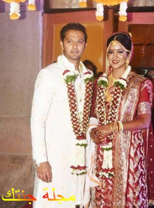 فاتسال و زوجته في حفل الزواج