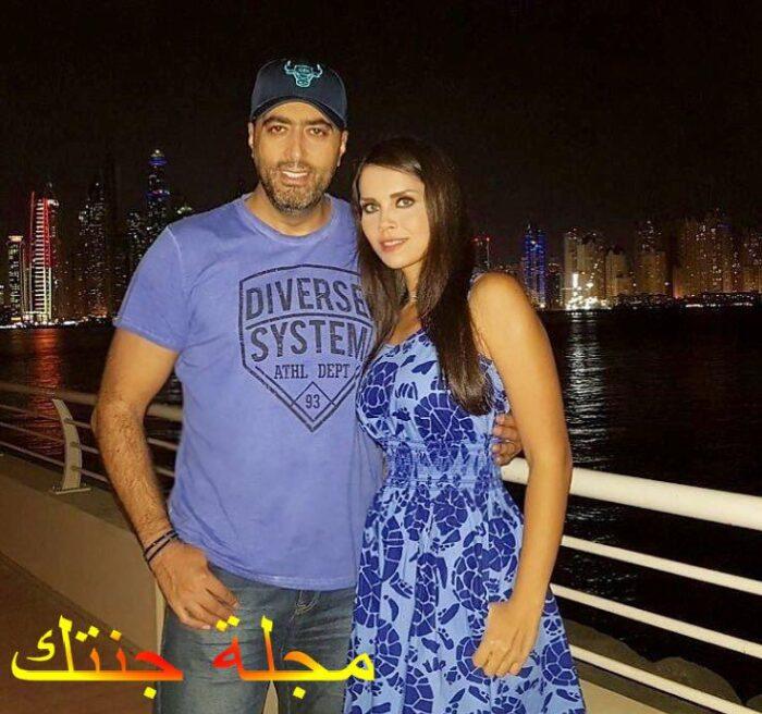 باسم ياخور مع زوجته رنا