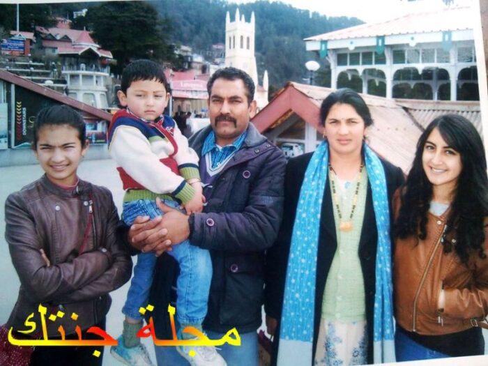 براتيبا رانتا مع اسرتها