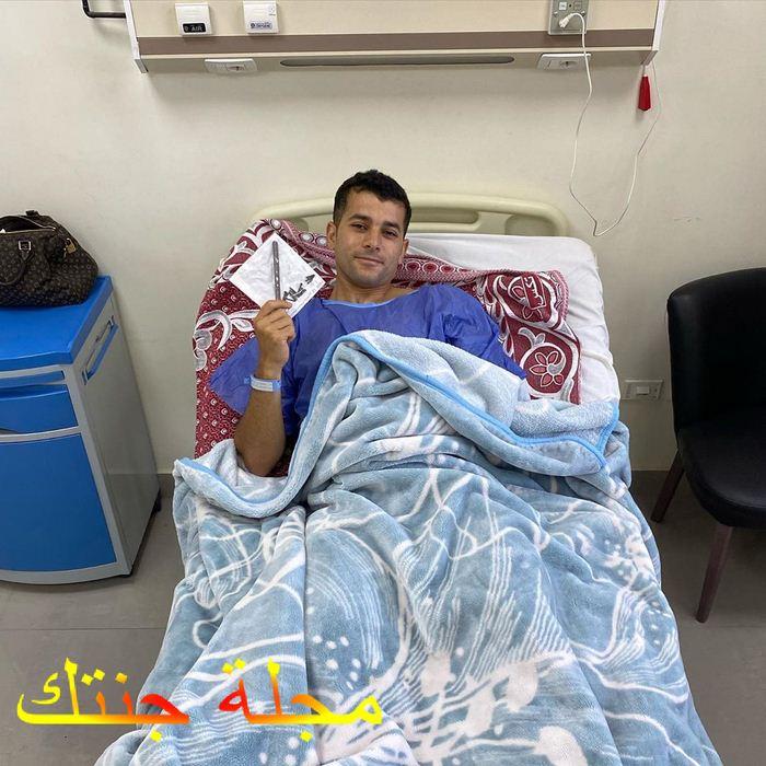 رامز امير بعد اجراء العملية الجراحية الثانية