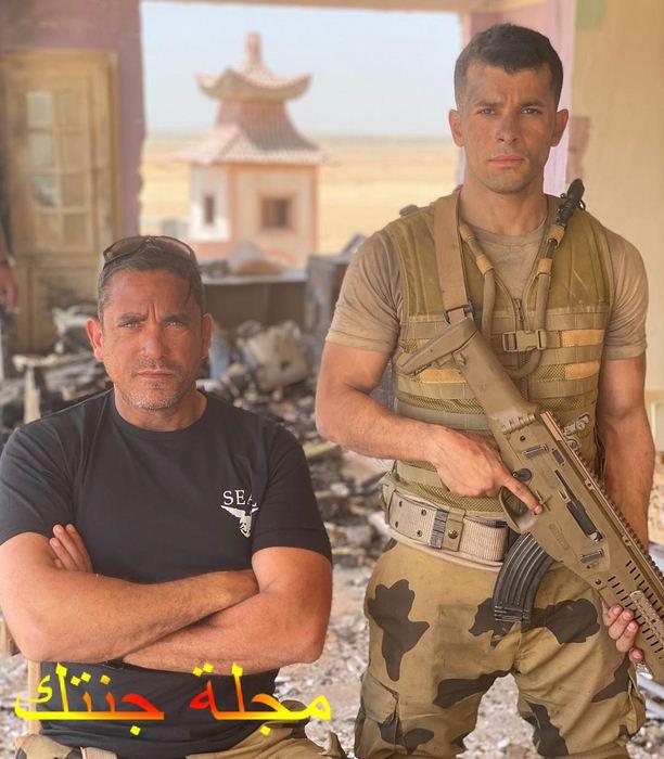 رامز امير و امير كرارة اثناء تصوير مشاهد كمين البرث